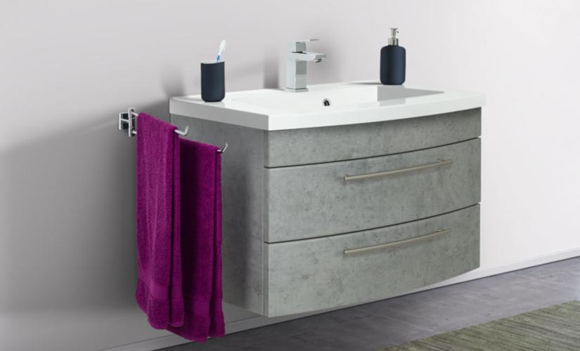 Waschbeckenunterschrank grau