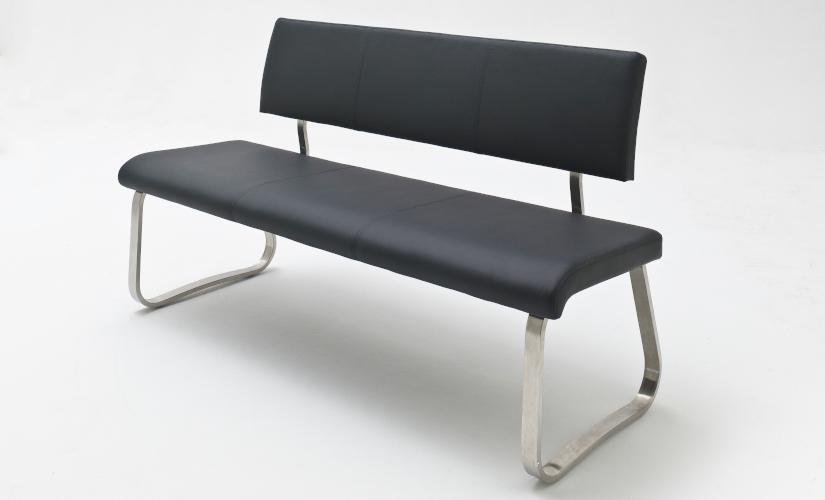 Sitzbänke Leder schwarz