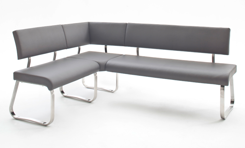 Sitzbänke Leder grau