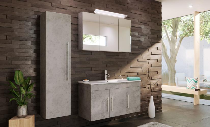 Badprogramm Teramo Sonoma Stone Design grau