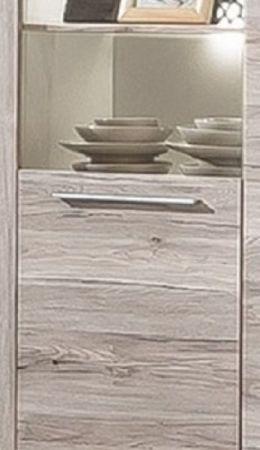 Highboard Vitrinenschrank Passat Eiche Sand 148 x 150 cm