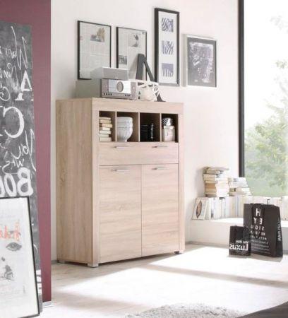 """Wohnzimmer: Kommode """"Boom"""" Sonoma Eiche hell, sägerau (120x137 cm)"""