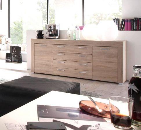 """Wohnzimmer: Sideboard """"Boom"""" Sonoma Eiche hell, sägerau (176x79 cm)"""
