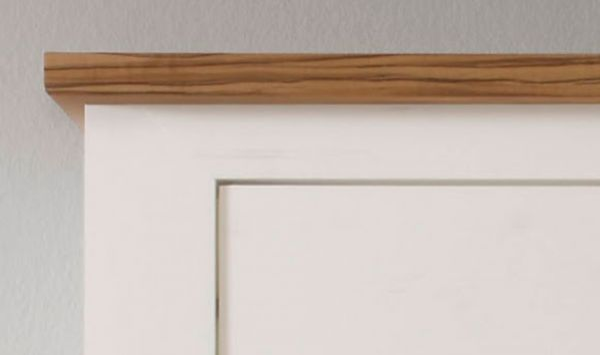 Wandboard Toronto in Anderson Pinie weiß mit Nussbaum Satin Wandregal 140 cm