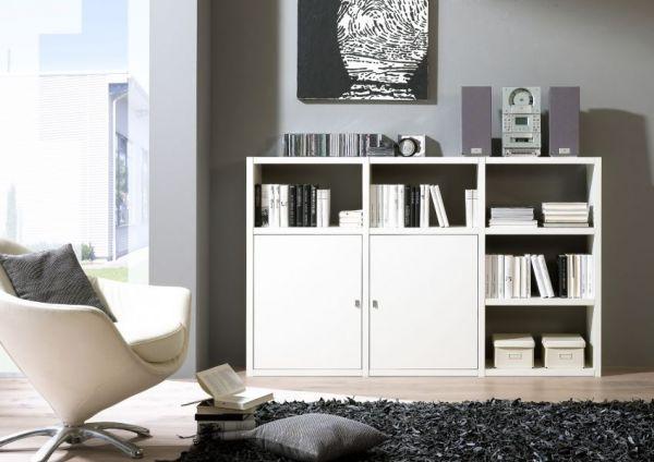 Sideboard Bücher-/Aktensideboard Lack weiß matt