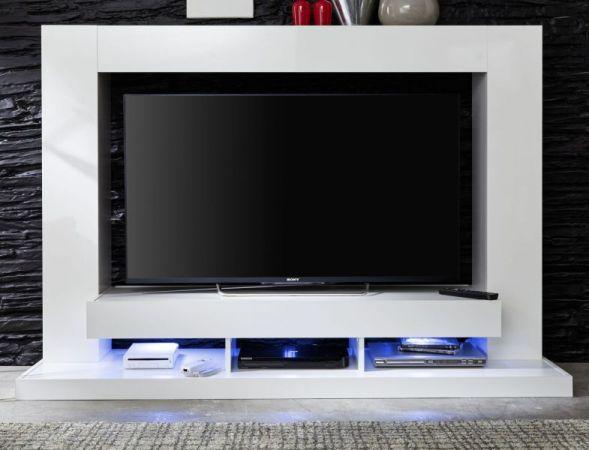 """Wohnzimmer: Medienwand """"TTX05"""" Glanz weiß (164 x 124 cm) für TVs bis ca. 50"""""""