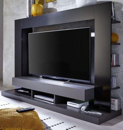 """Mediawand Cyneplex in schwarz und grau Glanz TV-Schrank 164 cm TV bis 55"""" optional mit LED Beleuchtung"""
