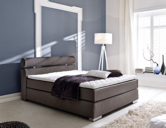 boxspringbett onella braun 160cm x 200cm. Black Bedroom Furniture Sets. Home Design Ideas