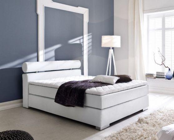 boxspringbett onella wei 160cm x 200cm. Black Bedroom Furniture Sets. Home Design Ideas