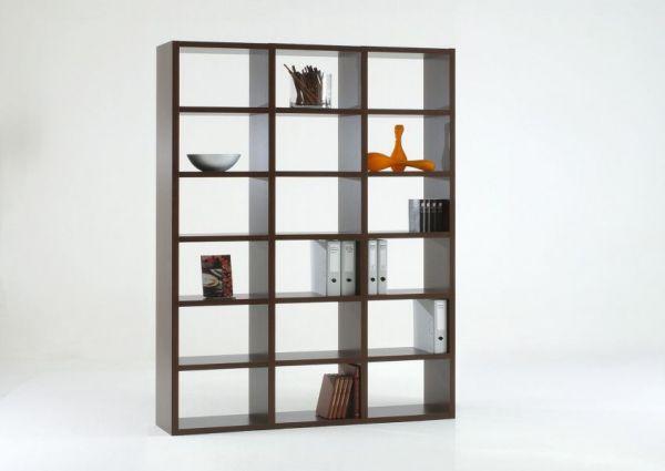 Bücherwand Bücherregal Raumteiler Wenge Dekor