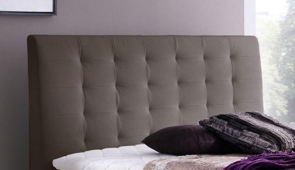 Boxspringbett Claudine 160 x 200 cm Leder Optik braun 5-Gang-Bonell Federkern Matratze Hotelbett
