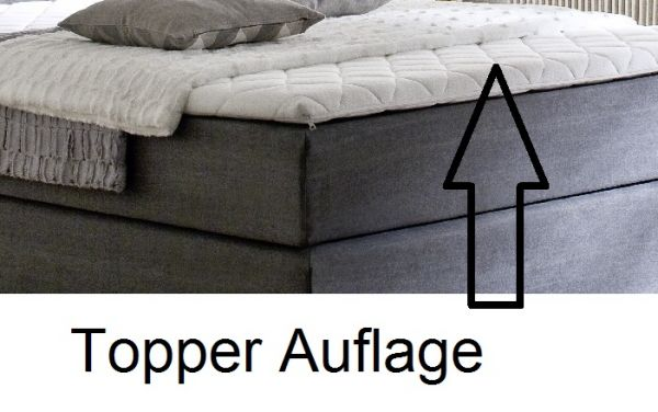 Boxspringbett Hotelbett Jordan graphit grau 140 x 200 cm 5-Gang-Bonell Federkern Matratze