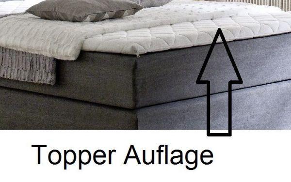 Boxspringbett Hotelbett Jordan graphit grau 180 x 200 cm 5-Gang-Bonell Federkern Matratze