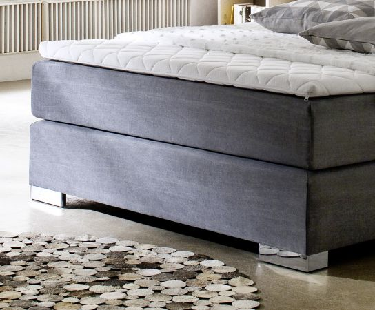 Boxspringbett Hotelbett Jordan graphit grau 160 x 200 cm Taschenfederkern Matratze