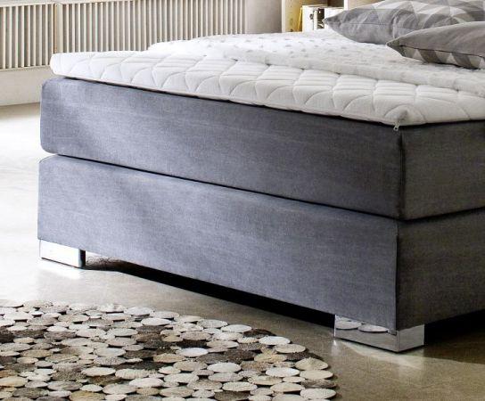 Boxspringbett Hotelbett Jordan graphit grau 140 x 200 cm 7 Zonen Tonnentaschenfederkern Matratze