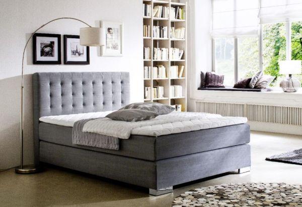 Boxspringbett Hotelbett Jordan graphit grau 160 x 200 cm 7 Zonen Tonnentaschenfederkern Matratze