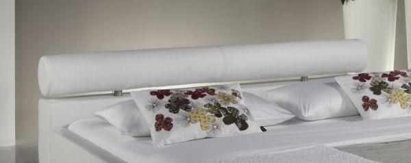 Doppelbett Polsterbett Ornella Leder Optik weiß 180 x 200 cm Kopfteil versch. Farben