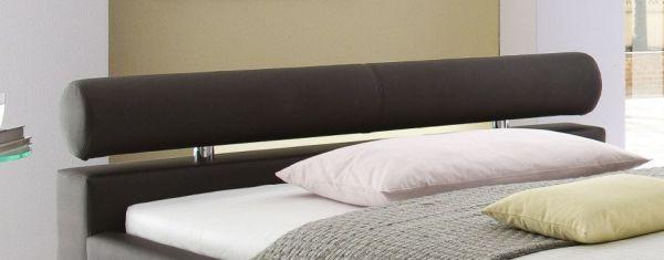 Einzelbett Polsterbett Ornella Leder Optik braun 120 x 200 cm
