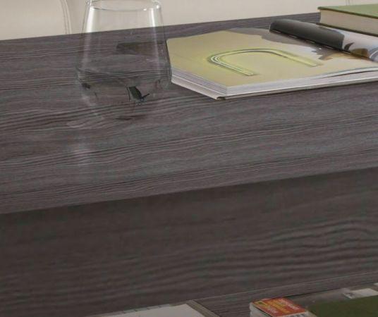 Couchtisch in grau Sardegna Rauchsilber 110 x 65 cm Holztisch mit Ablage