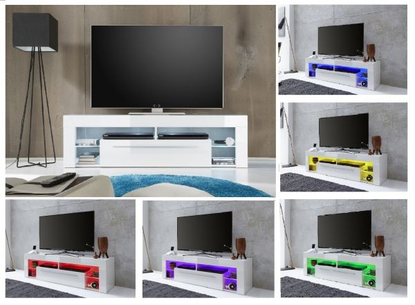 TV-Lowboard Score weiß Hochglanz 153 x 44 cm