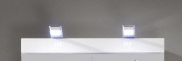 LED Spiegellampe für Spiegelschränke mit Multibox
