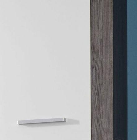 Badezimmer Set Miami Badmöbel Sardegna rauchsilber grau mit weiß Badkombination 5-teilig