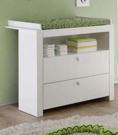 Babyzimmer Wickelkommode Olivia in weiß Babymöbel Wickeltisch 96 x 111 cm