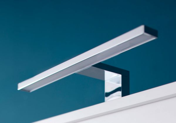 Spiegelschrank Runner 2-türig 60 cm grau Sardegna Rauchsilber optional mit LED Badlampe
