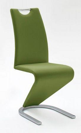 Stuhl Esszimmer Freischwinger Amado 2er Set Kunstleder olive