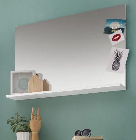 Wandspiegel Amanda weiß Hochglanz 91 x 60 cm
