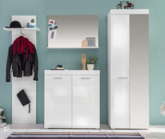 Garderobenspiegel Amanda Hochglanz weiß 91 x 60 cm