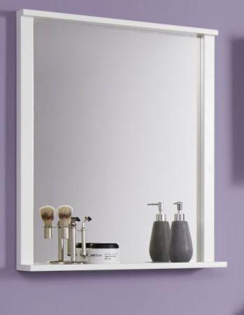 Spiegel Wandspiegel Florida weiß Melamin mit Ablage