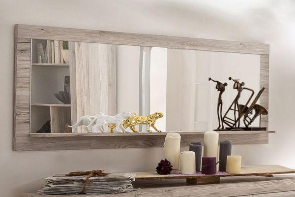 Wandspiegel Passat 168 cm Rahmen in Sandeiche mit Ablage
