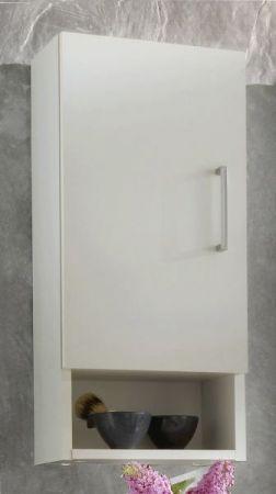 Badezimmer Hängeschrank mit Dekofach weiß 30 x 68 cm Adola