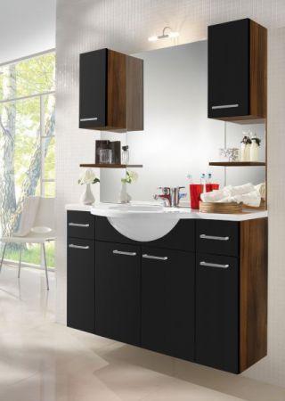 Badezimmer Unterschrank mit Schublade in Walnuss-schwarz 30 x 74 cm Adola