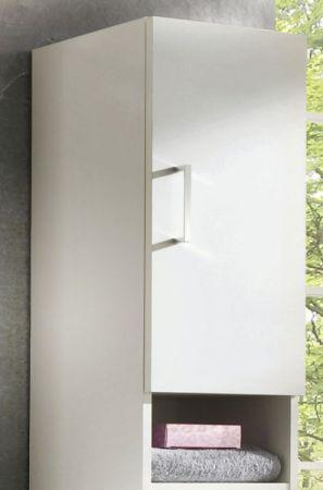 Badezimmer Hochschrank mit Dekofächern in weiß 30 x 170 cm Adola