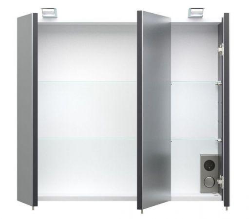 Badmöbel Spiegelschrank Salona inkl. Beleuchtung in Anthrazit