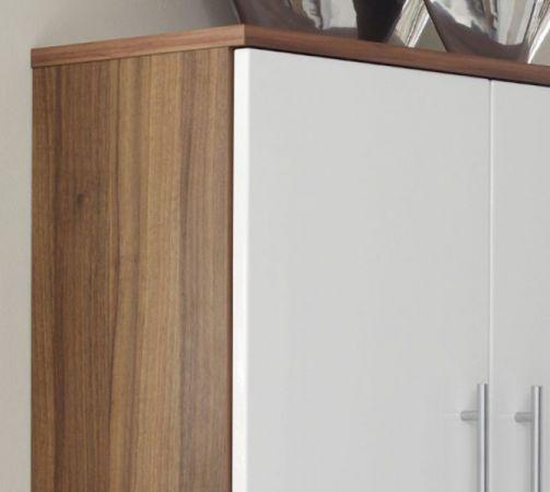 Badmöbel Hochschrank Salona in sonoma-Eiche weiß Hochglanz 70 x 135 cm