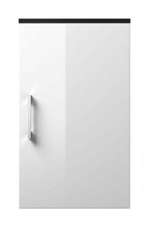 Badmöbel Hängeschrank Rima in anthrazit und weiß Hochglanz Badschrank hängend 40 x 68 cm Badezimmer