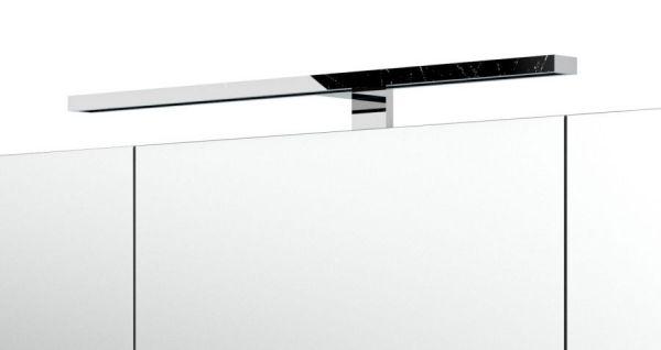 """Badmöbel Set """"Rima"""" weiß-Anthrazit Hochglanz, 5-teilig (190x135 cm) inkl. Waschbecken und Beleuchtung"""