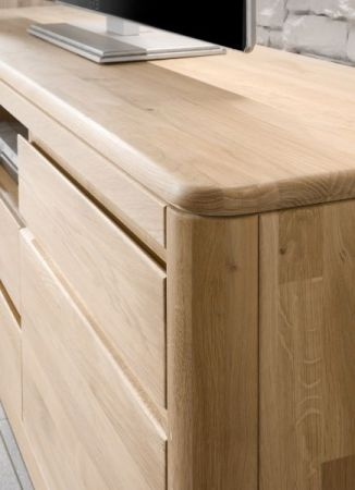 Highboard Naturell N1 in Eiche Bianco massiv, geölt und gewachst