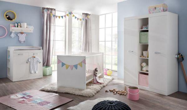 Bettumbauseiten Set weiß für Babybett Ronja Umbau Juniorbett