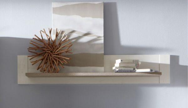 Wandboard Lotte in Pinie Struktur weiß und Nelson Eiche Dekor