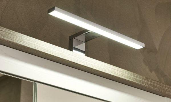 Bad Spiegelschrank Landhaus in Pinie weiß und Nelson Eiche 90 cm Badmöbel Lotte