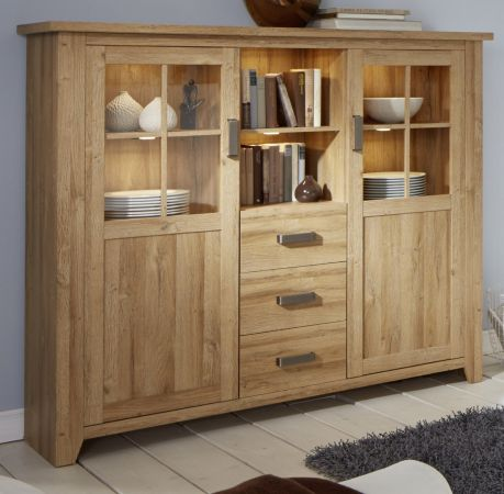 Buffetschrank in Eiche - Alteiche Highboard 163 x 145 cm Canyon
