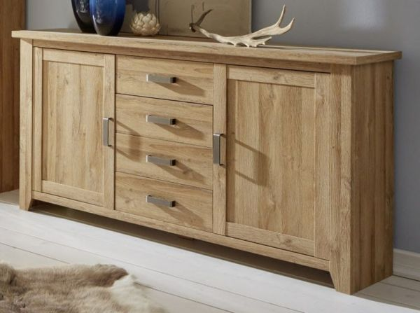 Sideboard Kommode in Eiche - Alteiche Dekor Anrichte 174 cm Canyon
