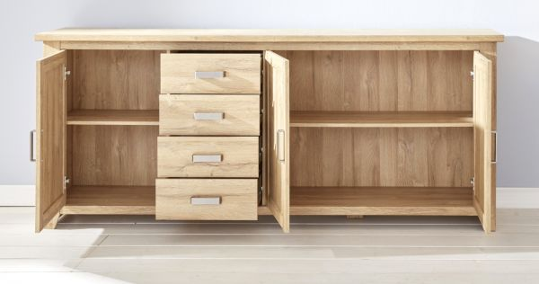 Sideboard Kommode in Eiche / Alteiche 219 cm Anrichte Canyon