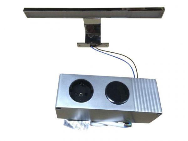 led spiegellampe badlampe gemo in chrom. Black Bedroom Furniture Sets. Home Design Ideas