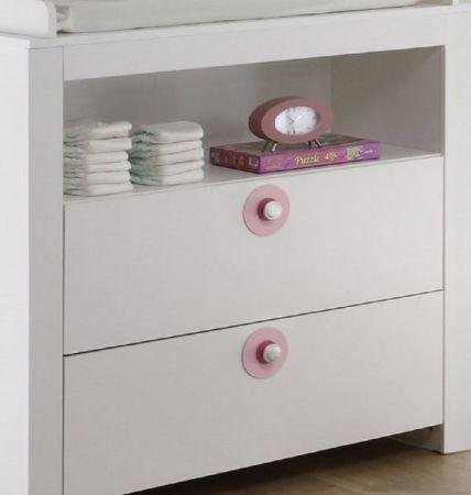 Filz-Applikationen rosa/rot 5er Set für Babyzimmer Olivia Kleiderschrank und Wickelkommode