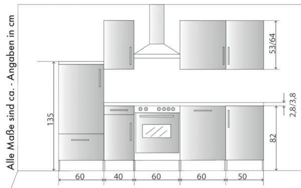 Küchenblock Einbauküche Classic inkl. E-Geräte + Geschirrspüler 270 cm breit in matt weiß